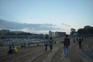 夕暮れのマスカラス広場