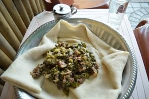 エチオピアの昼御飯